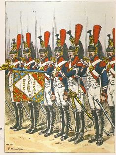 SOLDIERS- Benigni: NAP- France: French 4th Cuirassiers, Standard Bearer & Standard Guard, Tenue d'Inspection a Pied, 1806, by Pierre Benigni.