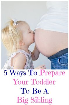 how to prepare your toddler to be a big sibling (before baby is born). This is from the same blog, but talks about what she did to prepare BEFORE baby was born. I love these tips!