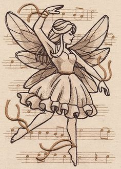 Beautiful Music - Fairy | Urban Threads: Unique and Awesome Embroidery Designs