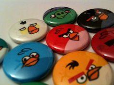 Angry Birds pins - Contact at SkippyDogDesigns@gmail.com  http://www.etsy.com/shop/SkippyDogDesigns?ref=si_shop