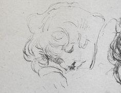 Desboutin Marcellin - Petit dormeur (II) (détail)