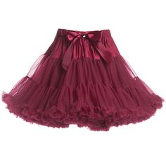f3fa0a2c16 ANGEL'S FACE Ruby Red Chiffon Frilled Tutu Skirt Red Tutu Skirt, Tulle Dress,  Ruby