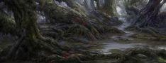 ArtStation - Swamp Environment , Dongjun Lu