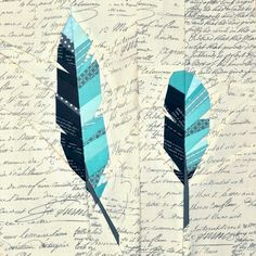 a quilt, maybe: feathers