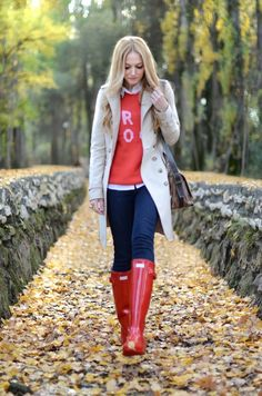 Cute 'it's supposed to rain today' outfit. For the Fall. except every time I do an outfit like this...it does not rain.