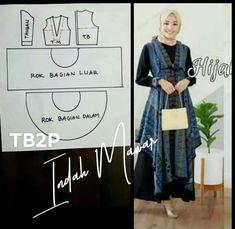 Batik Fashion, Abaya Fashion, Muslim Fashion, Women's Fashion, Abaya Pattern, Batik Pattern, Sewing Patterns Free, Clothing Patterns, Dress Patterns