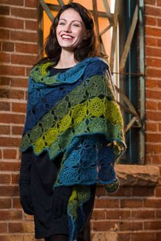 Afbeeldingsresultaat voor fall leaf crochet shawl granny