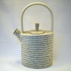 handbuilt stoneware teapot with 22k gold luster by gonetopottexas