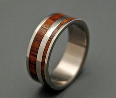 Wood wedding ring