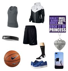 """""""Nike Basketball Outfit"""" by baller12101 ❤ liked on Polyvore featuring Journee Collection, Puma, NIKE and Casetify"""