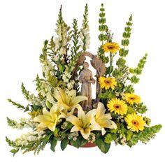 Specialty Displays - Sympathy Flowers, Funeral Arrangements, Casket Sprays, Side Pieces, Tributes