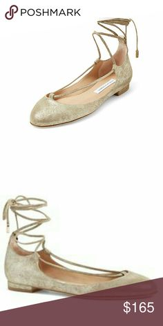 Diane von Furstenberg Paris Metallic Flat Wraparound tie Ankle straps Leather sole, lining and upper Imported  Dust bag included  Also have DVF Alderny Metallic Flats and DVF Jena Suede Ankle Boots Diane von Furstenberg Shoes Flats & Loafers
