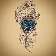 Ich liebe den Look - Tattoo-Ideen - I love the look - Tattoo Ideas - # Pretty Tattoos, Unique Tattoos, Beautiful Tattoos, Small Tattoos, Leg Tattoos, Body Art Tattoos, Sleeve Tattoos, Tatoos, Jewel Tattoo
