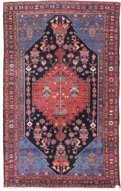 Antique Semiformal Rugs Gallery: Antique Bakhtiari Rug, Hand-knotted in Persia; size: 8 feet 6 inch(es) x 12 feet 7 inch(es) Persian Garden, Asian Rugs, Sisters Art, Oriental Rugs, Persian Rug, Rugs On Carpet, Mythology, Bohemian Rug, Diy And Crafts