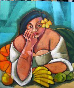 Moça com Frutas - Lilian Zampol