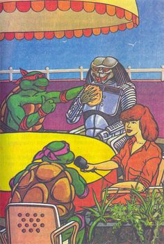 Curiosities: Teenage Mutant Ninja Turtles and Batman vs. Sci Fi Horror, Horror Art, Book Cover Art, Comic Book Covers, Batman Vs, Sci Fi Art, Teenage Mutant Ninja Turtles, Predator, Curiosity