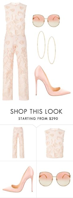 """""""Petals"""" by ale-pink5 ❤ liked on Polyvore featuring Alcoolique, Christian Louboutin, Gucci and Lana"""