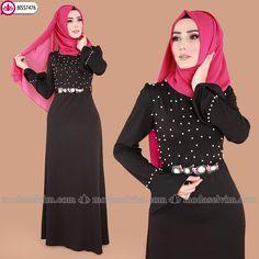 ** YENİ ÜRÜN ** İncili Tesettür Elbise Siyah Ürün kodu: BİSS7476 --> 59.90 TL