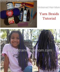 yarn braids akak genie locs tutorial. This gives me an idea. Wrapping your hair in yard. For example, section into tiny parts and wrap yard around that part. Protective styling that retains moisture and keep hair from tangling and from being frizzy. You could also us other materials.