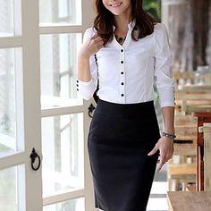 Elegant OL corte de camisas delgadas de las mujeres – USD $ 24.49