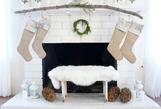 I think we could do that on our wall...cheaper than stocking hangers since we don't have a fire place...  ;0)