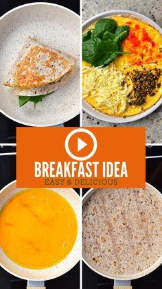 Breakfast Tortilla, Breakfast Dishes, Breakfast Recipes, Healthy Snacks, Healthy Recipes, Brunch Recipes, Food Videos, Tortilla Recipe, Tortilla Wraps