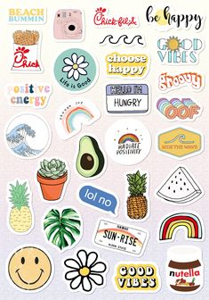 Tumblr Stickers, Funny Stickers, Diy Stickers, Printable Stickers, Laptop Stickers, Sticker Ideas, Journal Stickers, Planner Stickers, Auto Logo