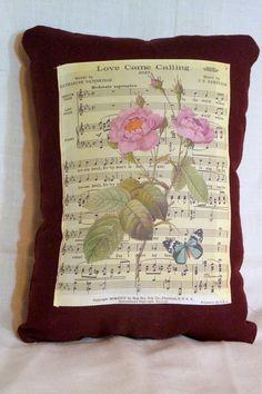 Burgundy Linen Pillow  decorative pillow  by JulieButlerCreations, $18.00