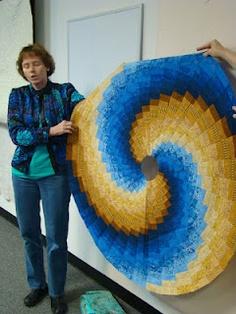 circular bargello quilt