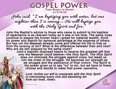 Gospel Power - Third Sunday of Advent