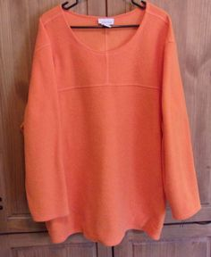Avenue Swimsuit Cover Up Orange Terry Cloth Pullover Plus Size 26/28 #Avenue #CoverUp