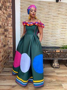 Sepedi Traditional Dresses, African Traditional Wear, African Traditional Wedding Dress, African Wedding Dress, Traditional Weddings, Best African Dresses, Latest African Fashion Dresses, African Wear, Shweshwe Dresses
