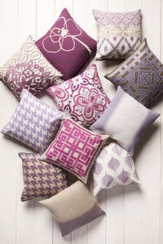 Everything is coming up orchid! #RadiantOrchid Color of the Year! Surya pillows will help you liven up your home.