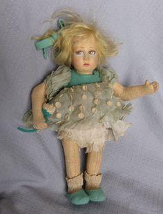 Antique (1920-1930) Lenci cloth doll.