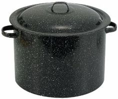 "Allied Metal SBLA12SP Porcelain Enamel Stock Pot, 12-Quart, Black by Allied Metal Spinning Corporation. $29.95. Dishwasher-Safe. ""Green"" product with no PTFE's, POA's or other chemicals that alter foods taste or nutritional value. Porcelain enamel cookware with carbon steel core for strength. Made in America. 1-Year Warranty. Porcelain enamel cookware has a carbon steel core for strength, conductivity and even heat distribution. It's also ""green"", as there are ..."
