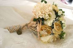 Afloral.com has high-quality silk flowers to DIY your wedding bouquet.  Beautiful customer submission!