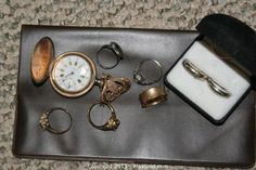 MaxSold - Auction: Marietta Moving Online Auction -  ITEM: Vintage Ladies Pin Watch, 14k Rings K sold for $175