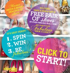 Charlotte Russe Tip! /// Go to the Charlotte Russe Facebook page & check out their new sweepstakes where you can win free shoes or a coupon. I got a $10 coupon for my next pair of shoes or boots which I can either print out or send to my phone.- Helen