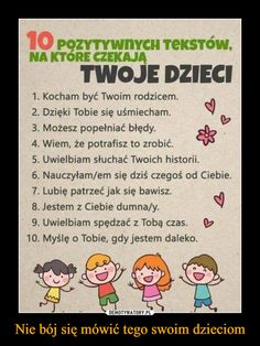 Trendy w kategoriach edukacja w tym tygodniu - Poczta A Piece Of Advice, Motto, Raising Kids, Kids And Parenting, Good To Know, Kids Learning, Kindergarten, Homeschool, Parents