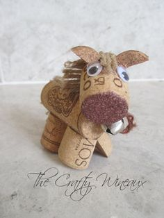 Lot of 10 - Rustic Pony, Horse Wine Cork Ornaments, Christmas Ornament, Gift Tag, Wine Bottle Charm Wine Cork Projects, Wine Cork Crafts, Bottle Crafts, Craft Projects, Wine Cork Wreath, Wine Cork Ornaments, Jingle Bell, Wine Corker, Wine Bottle Charms