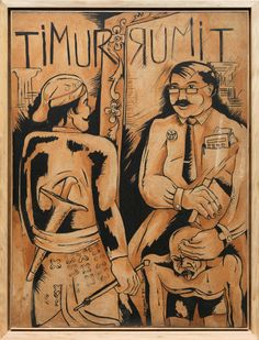'Timur Rumit' (1987-1990) by Indonesian artists Semsar Siahaan. Image courtesy the artist and Gajah Gallery.
