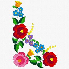 Hungarian Embroidery Ideas Beautiful Kalocsa Design/ embroidery pattern for sale. Chain Stitch Embroidery, Learn Embroidery, Embroidery Stitches, Hand Embroidery, Machine Embroidery, Embroidery Designs, Stitch Head, Bordado Floral, Illustration Blume