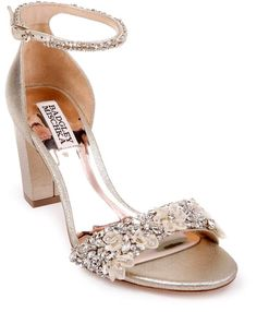 6d7d99e89 Badgley Mischka Collection Finesse Embellished Ankle Strap Sandal Badgley  Mischka, Ankle Strap Sandals, Bridal