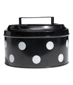 SAVE on black adn white spotty cake tin Product Detail H&m Home, Tin Boxes, Cake Tins, Black And White Colour, H&m Fashion, Dream Decor, Cool Kitchens, Polka Dots, Cookie Tin