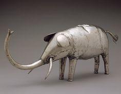 Silver Buffalo and Elephant, 19th century Republic of Benin