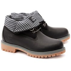 6a2b1a1b7fbf0c TIMBERLAND - Roll Top Boot Style - Czarne Skórzane Trapery Męskie - 6559. Bottes  Timberland À Col RouléTimberland Pour HommeBottes TimbalandChaussures ...