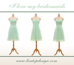 Short chiffon bridesmaid dresses, pro dresses.Sample color and style are not the ones you want? We have various colors and styles available. https://www.lisatopdesign.com/bridesmaid-dresses/short-bridesmaid-dresses.html