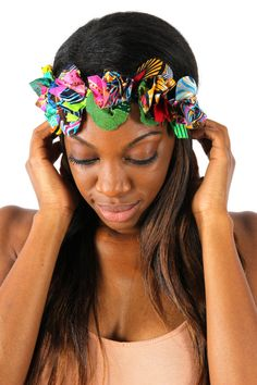 AFROPOLITAN : Head Band ~African fashion, Ankara, kitenge, African women dresses, African prints, Braids, Nigerian wedding, Ghanaian fashion, African wedding ~DKK