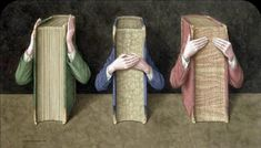 Oh, the Books! Bookish Find - Three Wise Books by Jonathan Wolstenholme Wise Books, I Love Books, Good Books, Amazing Books, What Is Reading, See No Evil, Book People, People Art, Library Books