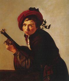 BIJLERT, Jan van Dutch painter, Utrecht school (b. 1597/98, Utrecht, d. 1671, Utrecht) Young Man Playing the Lute c. 1625 Oil on canvas, 98 x 83 cm Museo Thyssen-Bornemisza, Madrid